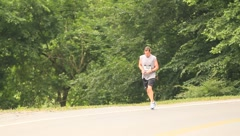 Male runner(HD)c Stock Footage