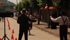 The Hatfield and McCoy finish line(HD)c Stock Footage