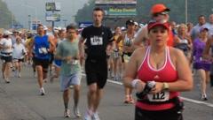 Stock Video Footage of Runners in marathon(HD)c