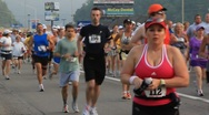 Stock Video Footage of Runners in marathon(HD)c