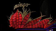 The flamingo casino sign, las vegas Stock Footage