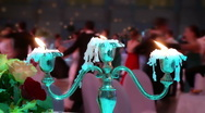 Stock Video Footage of 82 Dancing couples against candle