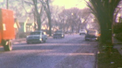 SMALL TOWN AMERICA Street Scene Suburban Lane 1950s Vintage Film Home Movie 133 Stock Footage