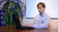 Boy with personal computer Stock Footage