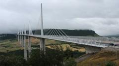 Le Viaduc de Millau (Millau Viaduct) in France Stock Footage