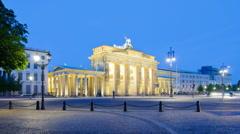 Berlin Brandenburg gate - stock footage