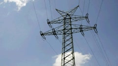 Electric power transmission - stock footage