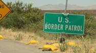 Stock Video Footage of US border patrol and working dog signs