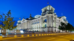 Reichstag in Berlin - stock footage