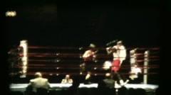 Amateur Boxers In Ring Stock Footage