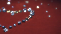 Jewelry heart 005 Stock Footage