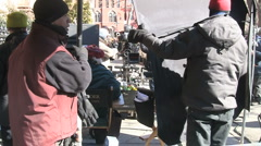 Filming Law and Order SVU in Manhattan Stock Footage