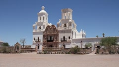 Beautiful catholic mission in Arizona - stock footage