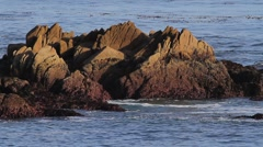 Monterey Peninsula Shoreline Rocks Stock Footage
