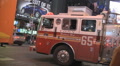 Fire truck stuck in traffic in Times Square New York 2 HD Footage