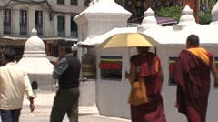 Boudha stupa Stock Footage