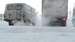 Yakutsk, Siberia. Woman boots. Stock Footage