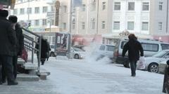 Yakutsk, Siberia Stock Footage