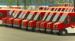 postal delivery vans, #3 zoom - stock footage