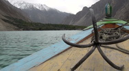 Stock Video Footage of On Attabad lake, sailing, Pakistan
