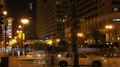 Chicago at Night Time Lapse HD - stock footage