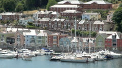 Dartmouth Marina, Devon, UK Stock Footage