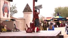 Renaissance festival Performer Stock Footage
