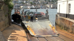 Dartmouth Lower Car Ferry at Kingswear Stock Footage