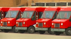postal delivery vans, #4 zoom - stock footage