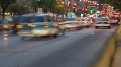 Evening on Michigan Avenue in Chicago Time Lapse HD Stock Footage