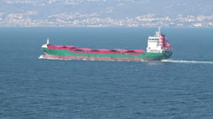 Mediterannean Sea cargo ship P HD 9339 Stock Footage