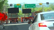 Traffic detour flashing arrows and traffic, #4 Stock Footage