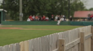 Small crowd at baseball game Stock Footage