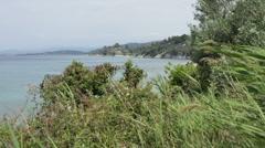 Seaview from Sithonia Peninsula, Chalkidiki, Greece Stock Footage