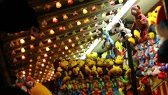 Carnival stuffed animals Stock Footage