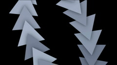 Triangle gear arrow card,technology science,zipper chains geometry recycling. Stock Footage