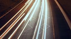 Highway Corner Timelapse. Detail. 25 fps. Stock Footage