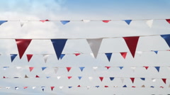 Flags Bunting - stock footage