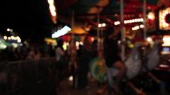 Carnival carousal Stock Footage