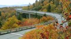 Linn Cove Viaduct Autumn Stock Footage