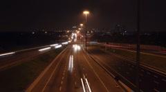 401 Highway timelapse. Wide. 25 fps. Stock Footage