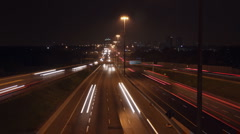 401 Highway timelapse. Wide. Stock Footage