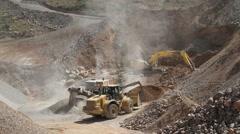 Heavy machinery - stock footage