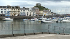 Ilfracombe Harbour Stock Footage