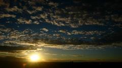 Sunrise Clouds Timelapse Stock Footage
