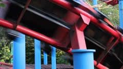 Roller Coaster Deluxe Amusement Park Theme #2 Stock Footage