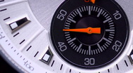 Stock Video Footage of fifteen second countdown extreme close up watch face. (handles)