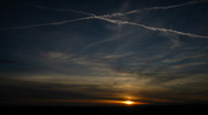 Sunset Clouds Timelapse Stock Footage