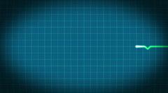 HeartBeat 1920 25fps Blue - stock footage