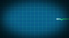 HeartBeat 1280 25fps Blue - stock footage